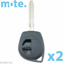2 x Suzuki Grand Vitara Liana Swift 2 Button Key Remote Case/Shell/Blank