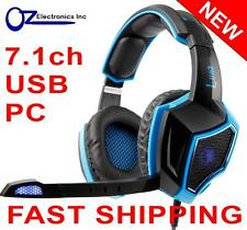 SADES LUNA SA-968 7.1 channel PC Gaming Headset Headphones Noise Cancel Mic NEW