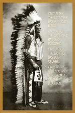 Chief White Cloud (Native American Wisdom) Art Poster Print Poster Print, 24x36