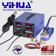 3in1 YIHUA 853D USB 2A SOLDERING REWORK STATION FOR DC POWER SUPPLY HOT AIR GUN