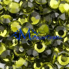 70pcs 6mm ss30 Olive Green Flat Back DMC A+ Glass Hotfix Rhinestones Crystal C16