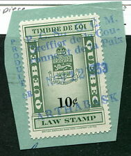 Used 10 Cent Quebec Law Stamp #QL109 (Lot #8494)