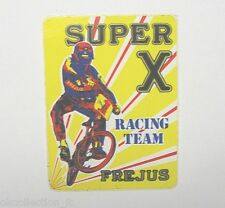 ADESIVO CICLISMO / Sticker Bike SUPER X RACING TEAM FREJUS TRIAL (cm 7 x 10)