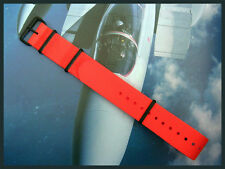 NATO watchstrap band Coast Guard Orange 20mm 22mm g10 PVD RAF Bonded IW SUISSE