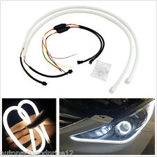 2x60cm Flexible Soft Tube LED Strip Car Headlight Lamp Daytime Running Light DRL