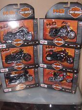 Toy Maisto Set Series 33 - 1:18 Harley Davidson Motorcycle Diecast  6 set