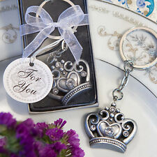 20 Royal Crown Design Key Ring Favors Wedding Favor Bridal Shower