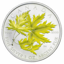 2006 Coloured Silver Maple Leaf - Pure Silver - Tax Exempt