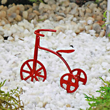 Trike ~ Red ~ Miniature ~ Fairy Garden ~ Dolls House ~ Cake Decoration Accessory