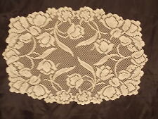 HERITAGE LACE IVORY TULIP SET OF 4 PLACEMATS 14X19 NWOT ITEM 8050