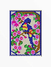BLUE PARROT PONY BEAD BANNER PATTERN