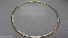 Omega Necklace 18 inch 5.5 mm Soft Curved  Made ITALY  33.8 grams   Make Offer