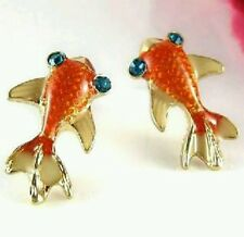 1 Pair  New Style  Cute Goldfish Glazed Earrings Charming Jewelry Drop