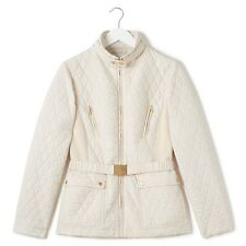 Precis Evie Funnel Neck Short Jacket Beige Size UK 16 RRP £99 Box4691 D
