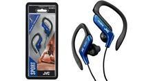 JVC Sports Splash Proof Sweat Proof Blue Earhook Stereo Earbuds 16 to 20000 Hz
