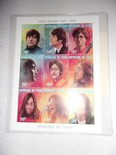 #3151 John Lennon of the Beatles 9 Stamps  Republique Du Tchad COA