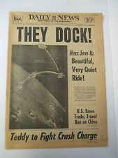July 22, 1969 NEW YORK DAILY NEWS Full Paper, Apollo 11 Space Dock
