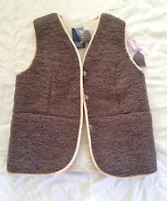Natural Real Wool Waistcoat Double sided size L, XL