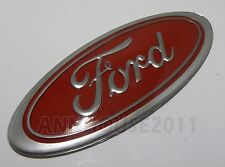 FORD ESCORT MK2 RS2000 CORTINA CAPRI CLASSIC CAR GRILL BOOT OVAL BADGE RED