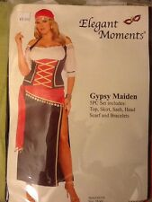 Free ship Defective FLIRTY GYPSY MAIDEN COSTUME OFF SHOULDER HALTER TOP SKIRT
