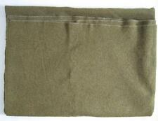 Vintage Korean War Army Military Blanket Olive Drab Green Wool 57 by 80 Inches