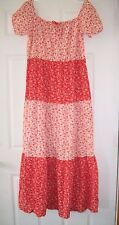 Vtg Womens Floral Prairie Dress Hippie Boho 60's 70's Size M L