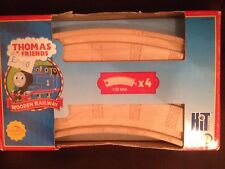 thomas and friends wooden 170mm curved tracks x4 brand new in box learning curve