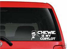 Star Wars Chewie is my copilot  WHITE cut vinyl window sticker decal