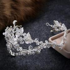 Sliver Bridal Headpiece Crystal Hair Halo Rhinestone Wedding Headdress 1 Piece