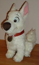 "Disney BOLT 12"" stuffed plush White DOG HERO w/Red Collar"