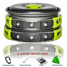CAMPING COOKWARE MESS KIT WITH FREE GIFTS Most Complete Outdoors Equipment Gear
