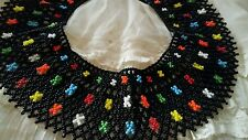 Beautiful COLLAR BIB NECLACE hundreds of tiny glass beads, unusual