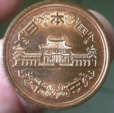 Year 24 Japan  10 yen copper  Coin  very nice details ! BU/lustre