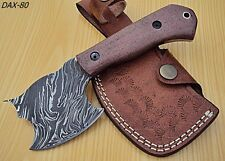 DIST-DAX-80- Custom Handmade Damascus Steel- 7.2 Inches AXE