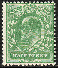 SG 267 1/2d Harrison Perf 14 Deep Dull Yellow Green M3(-) U.M. with plate crack.