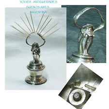 Very rare antique silver plated creature dwarf Christofle toothpick holder