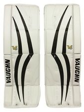 "New Vaughn 1100i Int goalie leg pads Black/White 31""+2 Velocity V6 ice hockey"