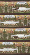 MODA Fabric ~ ENDANGERED SANCTUARY FLANNELS ~ Holly Taylor (6650 18F) by 1/2 yd