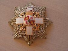 superbe plaque de commandeur  merite militaire espagnole 19 eme