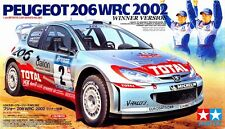 Tamiya 24262 1/24 Model Car Kit Peugeot Total 206 WRC Rally 2002 Grönholm/Burns