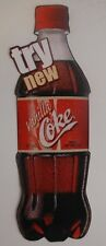 8 INCH TALL COCA-COLA PAPER VANILLA COKE ADVERTISING