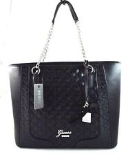 AUTHENTIC NEW NWT GUESS FROSTY BLACK TOTE BAG