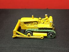 VINTAGE 1958 LESNEY MATCHBOX #18-B CATERPILLAR BULLDOZER W/ORIGINAL TREADS VG