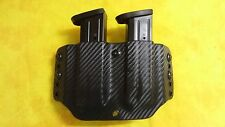DOUBLE MAG HOLSTER BLACK CARBON KYDEX FNX45 TACTICAL FNX-45 FN
