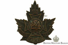 WW1 Canadian 24th Battalion (Victoria Rifles of Canada) CEF Cap Badge - AA04