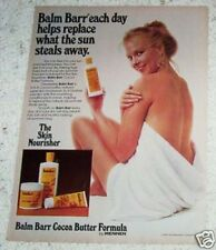 1981 ad page - Balm Barr Cocoa Butter SEXY nude GIRL vintage 1-PAGE ADVERTISING