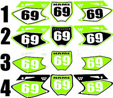 2006-2008 Kawasaki KX 250f 450f KX Number Plates Side Panels Graphics Decal
