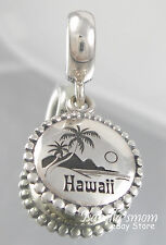 HAWAII Aloha Genuine PANDORA Sterling Silver TRAVEL DANGLE Charm/Bead NEW