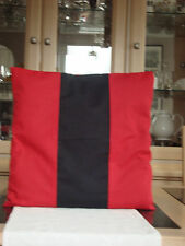 RED / BLACK PANEL COTTON / POLYESTER CUSHION COVER