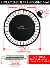 "SkyBound 150"" Trampoline Mat w/ 72 V-Rings  (Fits w/ 14' Frames & 5.5"" Springs)"